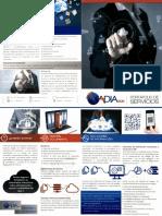 Brochure de productos tecnologicos