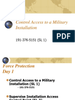 Control Access and Supervise Access Control Point