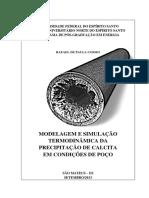 Modelagem e Simulação Termodinâmica Da Precipitação de Calcita Em Condições de Poço
