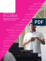 Singing Syllabus 2018 2021