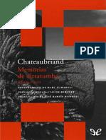 5De Chateaubriand Francois Rene - Memorias de Ultratumba - Libros I - XII-126