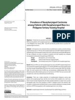ORIG ARTICLE Prevalence of Nasopharyngeal