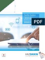 Avance Tarifa Daikin 2018