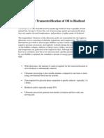 Biodiesel Transesterification