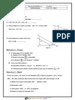 Devoir de Contrôle N°1 - Math - 1ère AS (2016-2017) Mr Afli Abdelaziz