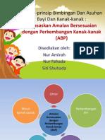 Prinsip-prinsip Bimbingan Dan Asuhan Bayi Dan Kanak-kanak