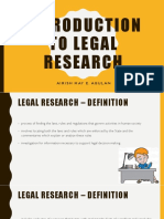 Intro to Legal Research Report
