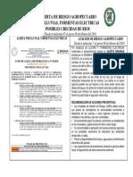 Alerta de Riesgo Agropecuario Por Lluvias, Tormentas Electricas y Posibles Crecidas de Rios Desde El Miércoles 07 Al Jueves 08 de Febrero Del 2018