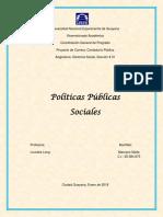 Políticas Públicas Sociales