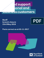 RBS Banff Branch Closure Factsheet