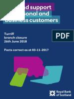 RBS Turriff Branch Closure Factsheet