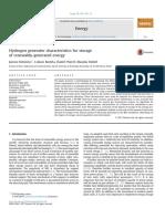 Hydrogen Generator Characteristics for Storage or Renewably Generated Energy Kotowicz 2016
