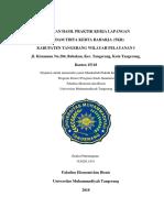 Laporan Hasil Praktek Kerja Lapangan di PDAM TKR Kab. Tangerang Wilayah Pelayanan I.pdf