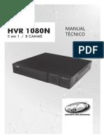 Manual Técnico HVR 1080N 8 Canais 5 Em 1