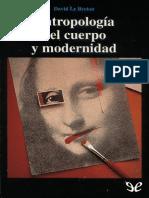 David Le Breton Antropología Del Cuerpo y Modernidad