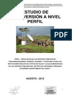 Perfil Del Proyecto Servicios Publicos de Telecomunicaciones - Espinar