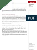 Real Estate Accounting Policies