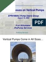 Vertical Pump Repair Issues