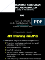 005 - Lab Safety - LABORATORY PPE (PERSONAL PROTECTION EQUIPMENT)