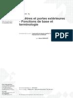 3 Fenêtres Et Portes Extérieures- Fonctions de Base Et Terminologie