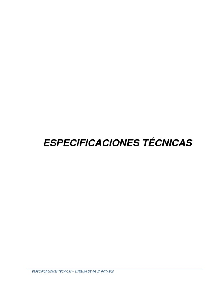 Especificaciones-tecnicas Catacaos - Piura