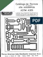 Catálogo de Pernos Alta Resistencia ASTM A325