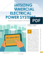 Rightsizing Commercial Electrical Power Systems IEEE 2016 07463528