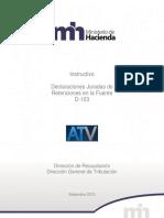 Instructivo Formulario de Retenciones en La Fuente ATV