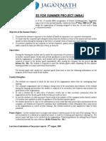 MBA Proj Guidelines
