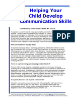 Helping Your Child Develop Communication Skills
