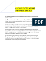 10 Amazing Facts About Renewable Energy