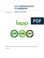 IAPP Privacy Certification Candidate Handbook v.2.3.1