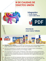 Plan de Calidad Productos Union