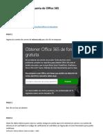 Manual Para Crear Cuenta en Office 365