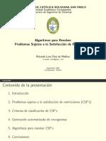 Algoritmos para Resolver Problemas Sujetos a la Satisfacción de Restricciones (2004)