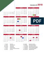 Calendario 2018 - Madrid