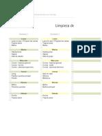Calendario de Tareas de Hogar en Excel