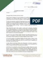 Carta a Presidente Del Poder Judicial - Caso Rosa Andrade