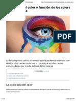 Psicología del color y función de los colores en Cromoterapia