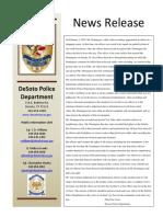 DeSoto Police Department Statement (2)