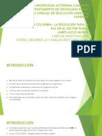 Posconflicto en Colombia La Educación Para La Paz