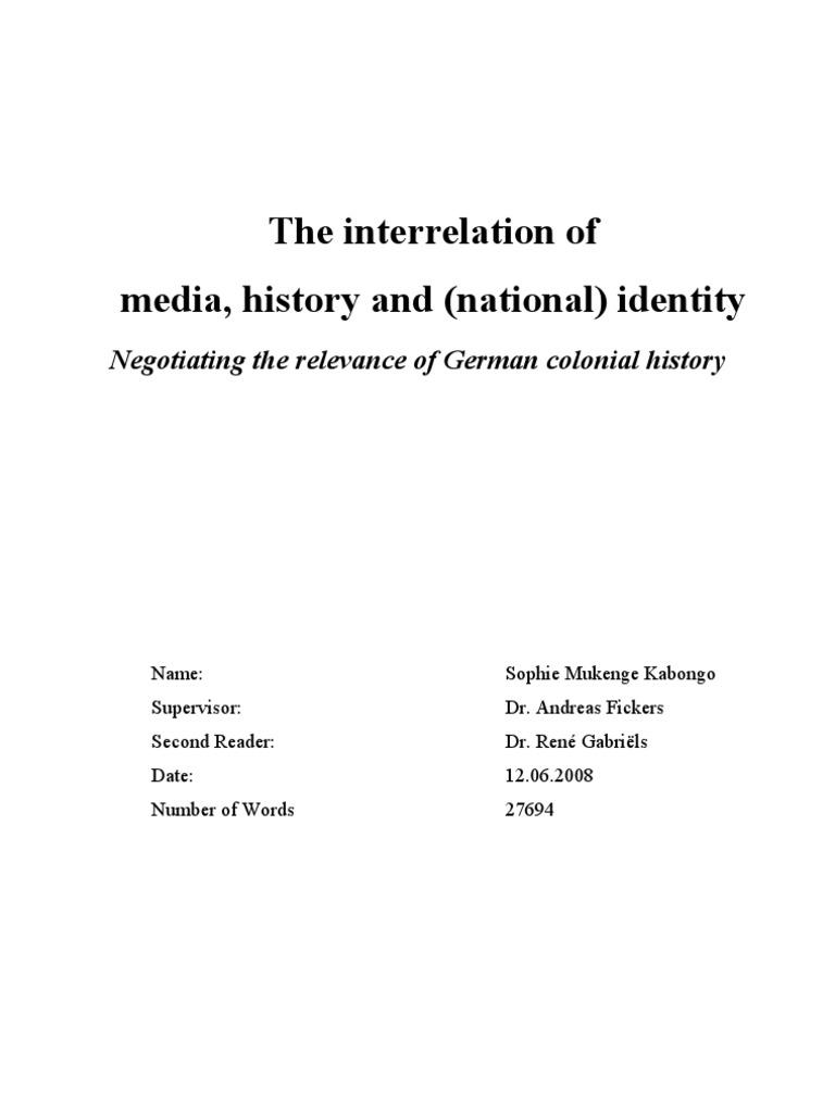 THESIS-SOPHIE+MUKENGE+KABONGO DOC | Mass Media | German Empire