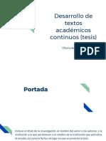 Desarrollo de Textos Académicos Continuos (Tesis)