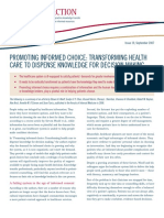Promoting Informed Choice - Transforming Healthcare to Dispense Knowledge for Decision Making