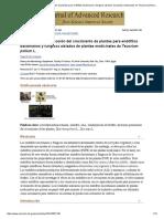 Actividades de Promoción Del Crecimiento de Plantas Para Endófitos Bacterianos y Fúngicos Aislados de Plantas Medicinales de Teucrium Polium L