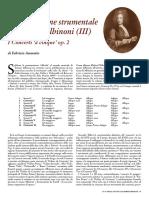 La produzione strumentale di Tomasso Albinoni - I Concerti 'a cinque' op. 2 - Fabrizio Ammetto (2003)
