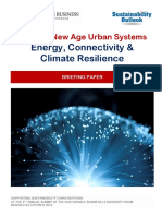ENERGY, CONNECTIVITY AND CLIMATE RESILIENCE - Shaping New Age Urban Systems Energy
