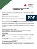 Reglamento Pasarela Cosplay Natsumatsuri 2018