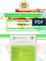 Press Kit - KSAALT Conference, 2 May 2013