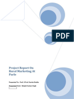 Project Report on Rural Marketing at Parle